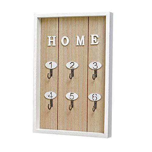 D-SYANA8 - Ganchos de Madera para Colgar Llaves, Caja de Almacenamiento, decoración para el hogar, Sala de Estar, Color Madera