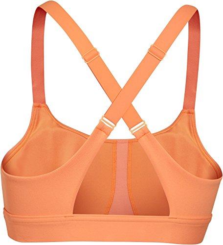 Under Armour Damen Fitness Bustier und Top UA Eclipse Bra Afterglow Orange