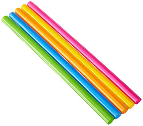 Party Bargains Bubble Tea Straws | BPA-Free & Reusable Assorted Bright Colors Drinking Straw | Perfect for Milkshake, Boba, Juices & more | Jumbo Pack Cocktail Drinking Straws | 100 Count