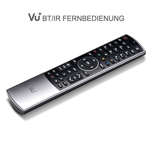 Vu+ 8786821 - Mando a Distancia (Receptor de televisión, IR/Bluetooth, Botones, Negro, Plata)