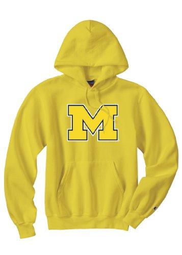 NCAA Michigan Wolverines PowerBlend Kapuze, Herren, Michigan (Herren Gelb Wolverine)