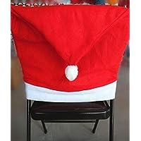 Décorations de Noël, Yogogo président Chapeau de Père Noël Couvre manger Chaise Sets Xmas Cap - 1pc