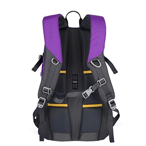 XSY 35L Zaino Trekking Sportivo Outdoor Donna e Uomo per campeggio alpinismo arrampicata Viaggio Alta Capacità Multifunzione Turchese Viola