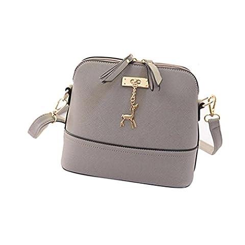 Loveso-Taschen Damen elegante Neuer Frauen-Kurier-Beutel-Weinlese -Kleine Shell-Leder-Handtasche