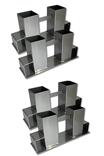 *Timtina 4-er Set Holz Stapelhilfe Kamin Brennholz Kaminholz Holzstapelhalter Kaminholzhalter Kaminholzregal (4 Stück)*