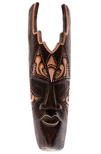 40cm legno maschera da parete ornamento da parete maschera legno maschera Africa Style commercio equo e solidale HM4000021