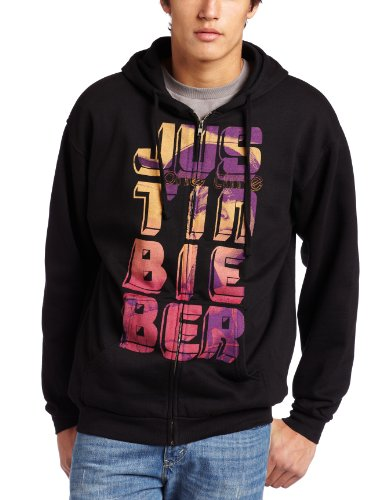 Bravado Herren Kapuzenpullover Justin Bieber Stripes Zip Up Hoodie - Schwarz - X-Groß -
