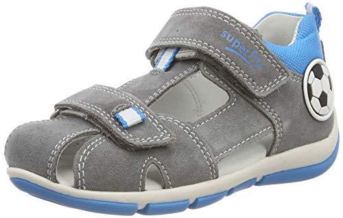 Superfit Baby Jungen Freddy Sandalen, Grau (Hellgrau/Blau 25), 19 EU - Schuhe Jungen Babys,