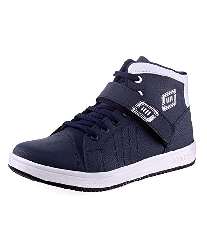 Knight Ace Kraasa Unbeatable Synthetic Leather Sneakers Blue UK 10 K-2270-BlueSilver-10