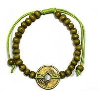 Limettengrün Bali Viel glück Feng-Shui Armband mit Chinesisch Talisman münze of Glück & vermögen preisvergleich bei billige-tabletten.eu