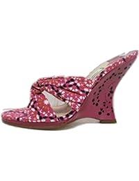 Jimmy Choo - Sandalias de vestir de lona para mujer rosa rosa 39 (6.5 UK)