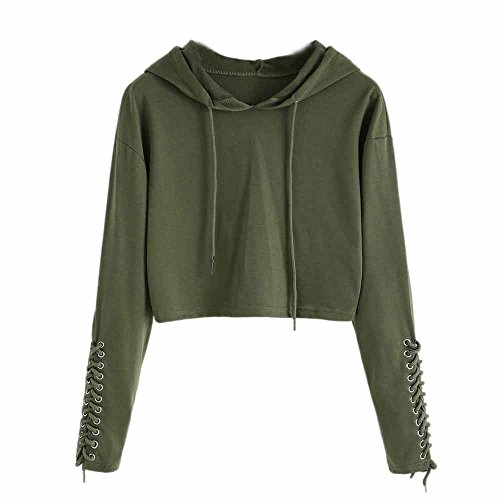 TWIFER Damen Hoodie Sweatshirt Pullover Crop Sport 2019 Winter Sweater Kapuzenpullover (Dope Zip-up Hoodie)