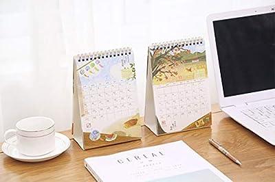 SMAQZ Calendario De Escritorio Calendario Fresco Pequeño Calendario De Escritorio Libreta Calendario Creativo por SMAQZ