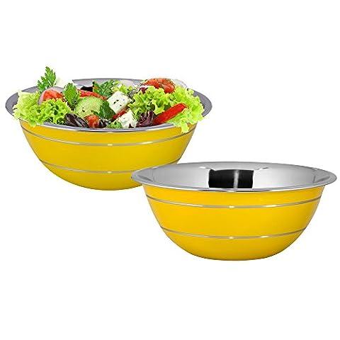 Kosma Set of 2 Stainless Steel Salad   Mixing Bowl