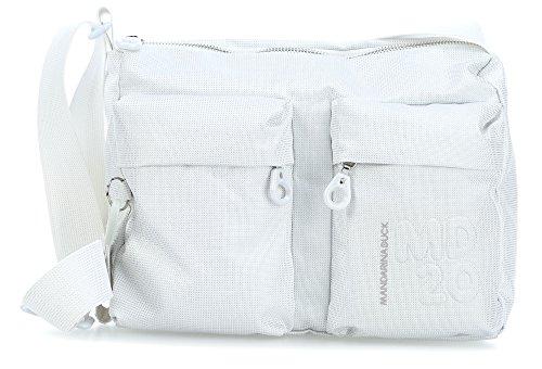 Mandarina Duck Damen Md20 Lux Tracolla Schultertasche, Weiß (White Lux), 8.5x20x29 cm (White Lux Schuhe)