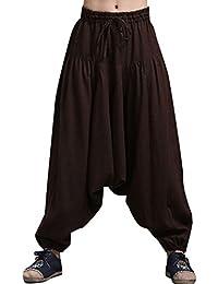 Youlee Hommes Taille Élastique Sarouel Pantalon
