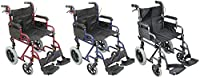 Aidapt Deluxe Attendant Propelled Steel Wheelchair (Choose Your Colour)