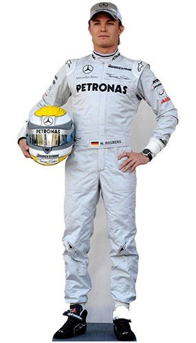Nico Rosberg 186 cms Lifesize Cardboard Cutout by Novelties Direct