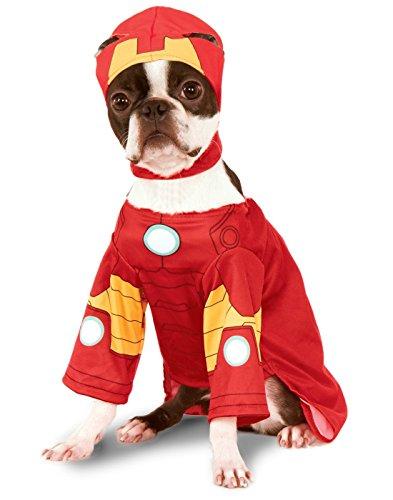 Kostüme Ironman Shirt (Rubies 3580072 - Iron Man Hundekostüm,)