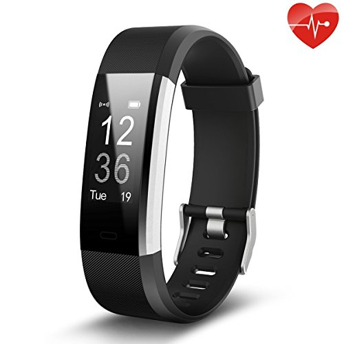 NAPPERBAND Fitness Tracker, Continuous Heart Rate Monitor Activity Tracker with GPS Tracker, Step Counter, Sleep Monitor, IP67 Waterproof, Bluetooth for Android and iOS Smartphone (Black)