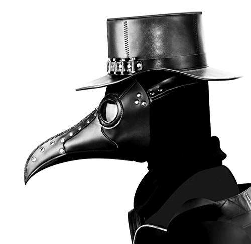 DUBAOBAO Steampunk Pest Bird Mouth Maske, Pest Doctor Bird Maske Lange Nase Rollenspiel Steampunk Halloween Kostüm Requisiten