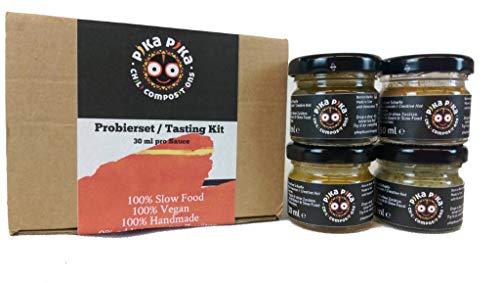 Set di prova - 4 Composizioni Piccanti / Kit di degustazione / Set da regalo / Perfetto per grigliate / Assaggia prima e poi scegli il tuo acquisto!!!
