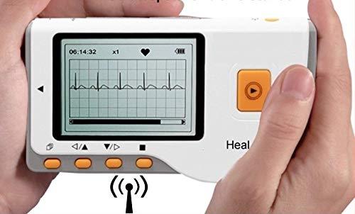 ekg tragbar Tragbares EKG Mobiles Hand EKG Gerät - Beschreibung mit Deutschen Ausführungen - Vorhofflimmern - 30 Sek. oder Langzeit - mit neuester Analysesoftware