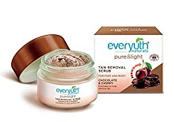 Everyuth Naturals Tan Removal Scrub, Chocolate and Cherry, 50g