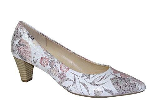 Damen Pumps Gabor flower print fall mehrfarbig aus Leder Größe 38 bis 40 Mehrfarbig