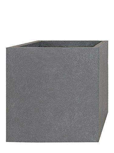 PFLANZWERK® Pflanzkübel CUBE Grau 46x55x55cm *Frostbeständig* *UV-Schutz* *Qualitätsware*