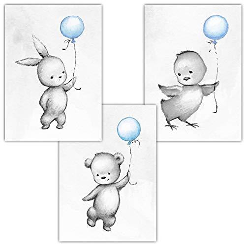 Frechdax 3er Set Kinderzimmer Poster Babyzimmer Din A4 Ohne