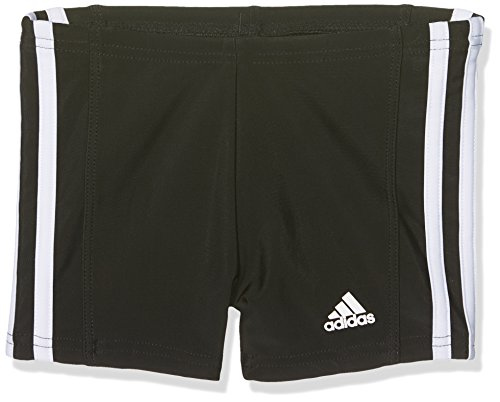 adidas Jungen Essence Core 3 Stripes Badehose, schwarz (Black/White), 140