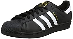 Adidas Unisex Adults Superstar Foundation Sneakers, Black (Core Blackfootwear Whitecore Black), 9.5 Uk (44 Eu)