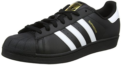 adidas Originals Superstar Foundation Herren Sneakers, B27140, Schwarz (Core Black/FTWR White/Core Black), EU 41 - Hop Schuhe Hip