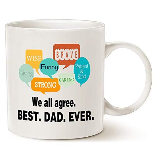 TANGGOOD Vatertags inspirierend Sprichwort-Kaffeetasse für Vati, am besten. Papa. Je. Gesprächs-Blasen-Vati-Kaffeetasse, Beste Geburtstags-Geschenke für Vater Cup White, 11 Unze