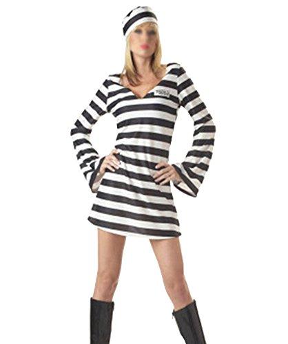 Damen Herren Halloween Kostüm Karneval Fasching Karnevalskostüme Faschingskostüme Streifen (Kostüme Die Ideen Originelle 2017 Halloween Für)