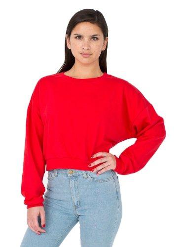 American Apparel California Fleece Kurz geschnittenes Sweatshir - Red - One Size