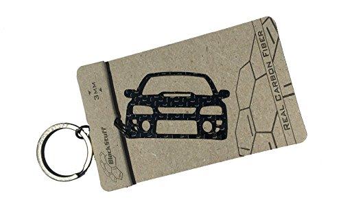 Llavero de Subaru Impreza Classic GC Newage, tela resistente, fibra de carbono