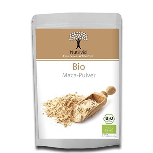 Nutrivid Bio Maca Pulver Premium Qualität Macapulver Bio