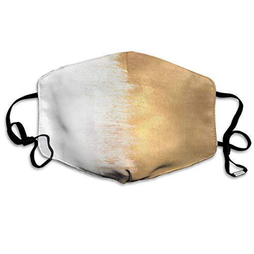 Daawqee Staubschutzmasken, Brushed Gold Anti Dust Face Mouth Cover Mask Respirator Cotton Protective Breath Healthy Safety Warm Windproof Mask