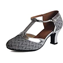 cddd3285 Syrads Zapatos de Baile Latino para Mujer Salsa Zapatos de Baile de Salón  Tango Samba Vals