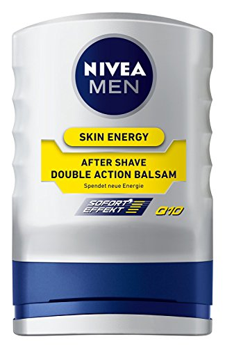 Nivea Men Skin Energy After Shave Balsam Double Action Q10, 1er pack (1 x 100 ml)