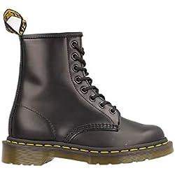 Dr. Martens 1460 - Botas Militares de Mujer, Negro (Black Smooth Leather), 39 EU