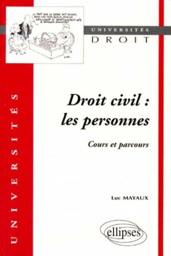 Droit civil : Les personnes, Cours et parcours