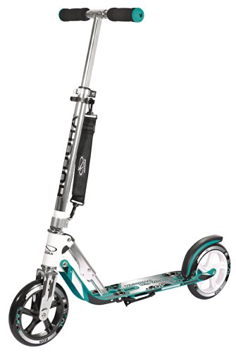 HUDORA Big Wheel Scooter 205, Tret-Roller klappbar - City-Scooter - 14751, türkis