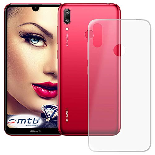 mtb more energy® Hülle Clear & Slim für Huawei Y7 2019 | Y7 Prime 2019 (6.26'') | transparent | flexibel | TPU Silikon Schutzhülle Case Cover Tasche