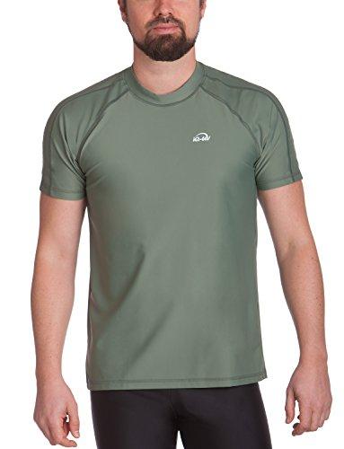 iQ-UV Herren 300 Regular geschnitten, UV-Schutz T-Shirt, Olive, L (52) -