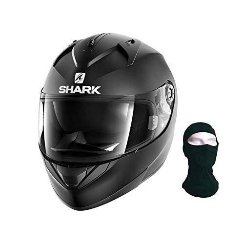 Shark Casco para moto Hark Ridill Blank mate, color negro, tamaño L