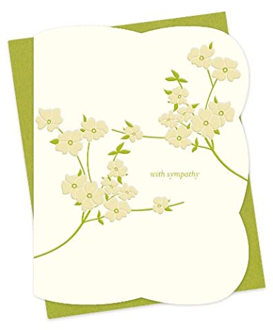 Blooming Dogwood typographiques de condoléances by Night Owl Papier