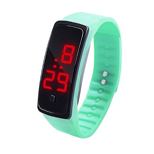 Knowin Uhren LED Digitalanzeige Armbanduhr Kinder Studenten Silica Gel Sportuhr Sportuhren für Damen Einzigartige wasserdichte Schüler der elektronischen Uhrkinder Ssports Elektronische Uhr
